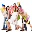 Group of celebrate birthday. — Stock Photo