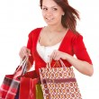 Shopping girl with group bag. — Foto de Stock