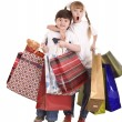 Boy and girl with shopping bag. — Stock Photo #3916213