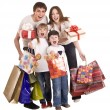 Happy family and children shopping. — Foto Stock #3916218