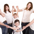 Happy family with children. — Stock Photo #3916248