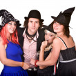 Stock Photo: Group of in witch costume.