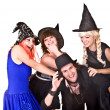 Group of in  witch costume. - Stock Photo
