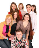Cheerful group of young — Stock Photo