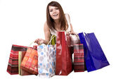 Girl with shopping bag. — Stock Photo
