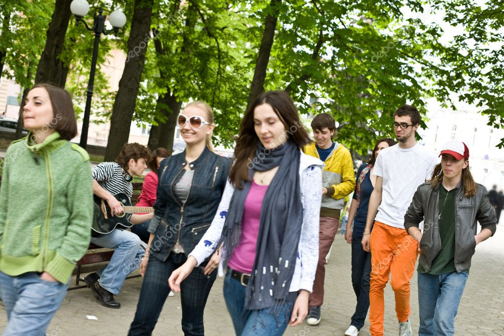 Group of on park.  Stock Photo #3916312