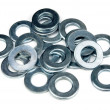 Flat washers — Stock Photo