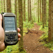 Gps on Trail - Stock Photo