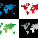 wereld kaart variatie — Stockvector