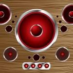 Wood speaker — Stock Vector #3408269