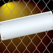 Royalty-Free Stock Vector Image: Wire fence night