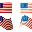 Royalty-Free Stock Vector Image: Usa flag grunge variation