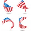 Us flag ribbon — Stock Vector