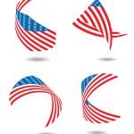 Us flag ribbon — Stock Vector