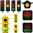 Traffic signals — Vettoriali Stock