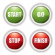 Stop start button — Stock Vector