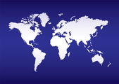 World map blue ocean — Stock Vector