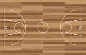 Wood basketball court — Stock Vector