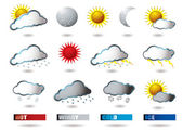 Weather icons — Stockvektor