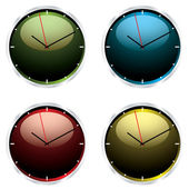 Variations modern wall clock — Vector de stock