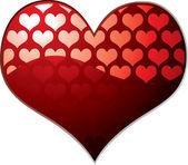 Transparent heart — Stock Vector