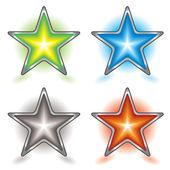 Star foursome — Stock Vector