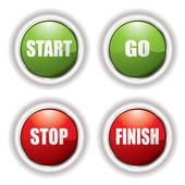 Stop start button — Stock Vector
