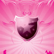 Subtle shield pink — Stock Vector