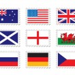 Royalty-Free Stock Векторное изображение: Stamp flag