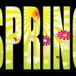 Spring text - Stock Vector