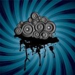 Speaker stack swirl — Stock Vector