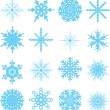 Stock Vector: Snowflake variation