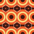 Vector de stock : Sixties orange retro