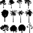 Silhouette trees - Stock Vector