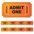 Admit one ticket — Stock Vector