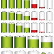 Royalty-Free Stock Vector Image: Battery collection sizes