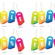 Royalty-Free Stock Vector Image: Rainbow sale tags