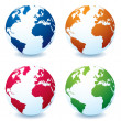 Realistic earth globe variation — Stock Vector