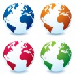 Realistic earth globe variation — Stock Vector #3416105