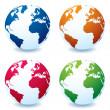 Realistic earth globe variation — Stock Vector