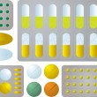 Royalty-Free Stock Vector Image: Pill collection