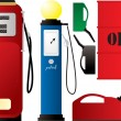 Petrol pumps - Stock Vector
