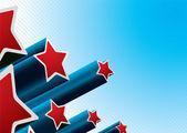 Star burst american — Stock Vector