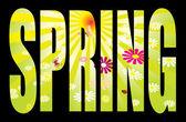 Spring text — Stock Vector