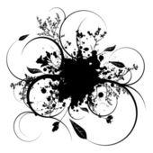 Splat wijnstok — Stockvector