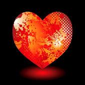 Splat grunge heart — Stock Vector