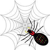 Spider — Vector de stock