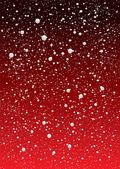 Redsky floco de neve — Vetor de Stock