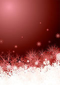Snowflake pile red — Stockvector