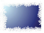 Snowflake blue background — Stock Vector